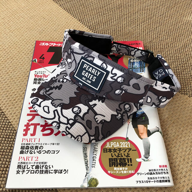 SALE  ゴルフサンバイザー 新品 メンズの帽子(サンバイザー)の商品写真