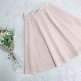 ハロッズ(Harrods)のELISA リボンフレアスカート ピンク サイズ2(ひざ丈スカート)