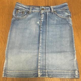 アンズ(ANZU)のデニムスカート(ひざ丈スカート)