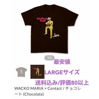 ワコマリア(WACKO MARIA)の【最安値】WACKO MARIA × Contact  チャリティーTシャツ L(Tシャツ/カットソー(半袖/袖なし))