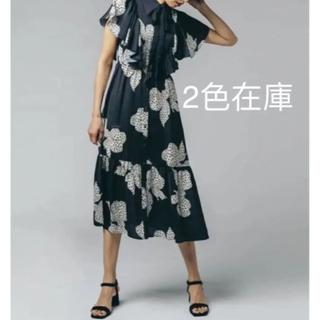 ダブルスタンダードクロージング(DOUBLE STANDARD CLOTHING)のSOV オリジナルリボン柄プリントサテンワンピース(ロングワンピース/マキシワンピース)