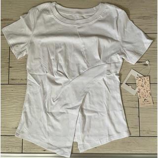 【新品 未使用】ホワイトTシャツ シンプル(Tシャツ(半袖/袖なし))
