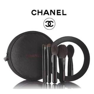シャネル(CHANEL)のCHANEL シャネル ブラシ ミラー ポーチ 化粧 レミ二ドゥシャネル(チーク/フェイスブラシ)