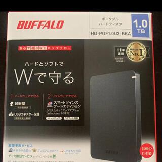 バッファロー(Buffalo)のポータブルハードディスク バッファロー 1TB(テレビ)