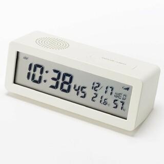 ムジルシリョウヒン(MUJI (無印良品))の●新品●  無印良品 デジタル電波時計(大音量アラーム機能つき)/ホワイト(置時計)