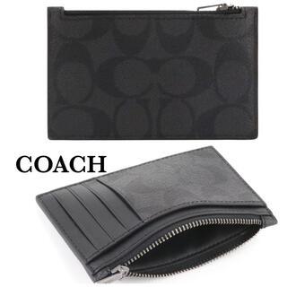 コーチ(COACH)のコーチ カード コインケース パスケース シグネチャー 名刺入れ  正規品 新品(名刺入れ/定期入れ)