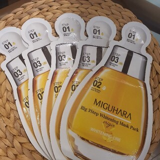 MIGUHARA miguharaミグハラ シートマスク 美白5枚 ①(パック/フェイスマスク)