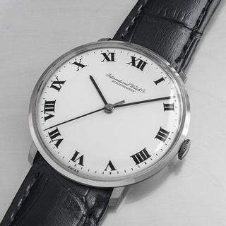 インターナショナルウォッチカンパニー(IWC)の(670) IWC 手巻き 稼動品 全数字文字盤 1966年製 アンティーク(腕時計(アナログ))