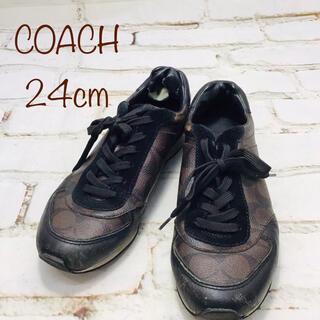 コーチ(COACH)のCOACH コーチ スニーカー ブラウン レディース 24cm(スニーカー)