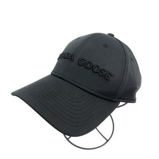 カナダグース(CANADA GOOSE)のカナダグース ×ニューエラ NEW ERA ロゴキャップ 野球帽 黒(キャップ)