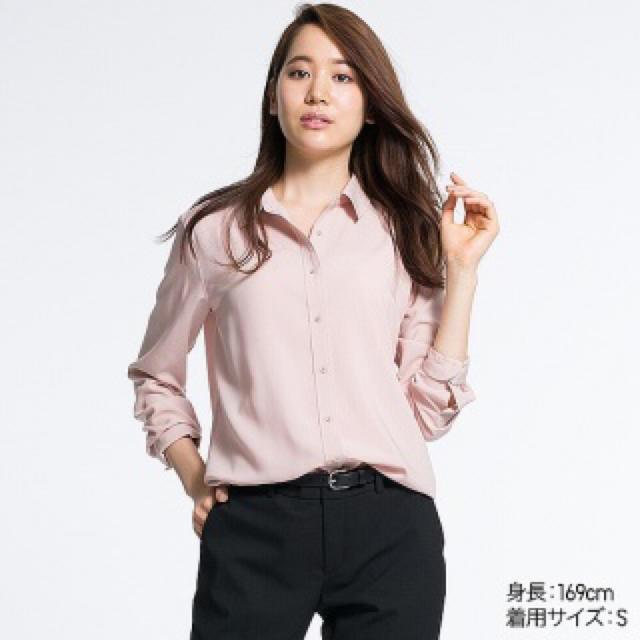 UNIQLO(ユニクロ)の大人気♪ビッグシルエットシャツ♪ピンク♪UNIQLO レディースのトップス(シャツ/ブラウス(長袖/七分))の商品写真