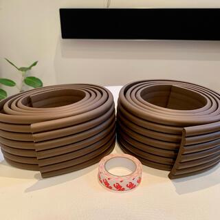 ベビー コーナーガード コーナークッション 2個 幅8cm全長4m +3Mテープ(コーナーガード)