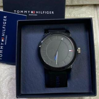 トミーヒルフィガー(TOMMY HILFIGER)の23【新品・未使用】トミーヒルフィガー メンズ ブラック 腕時計(腕時計(アナログ))