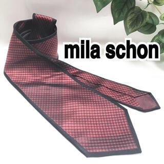 ミラショーン(mila schon)のmila schon ミラ ショーン ネクタイ 総柄 赤(ネクタイ)