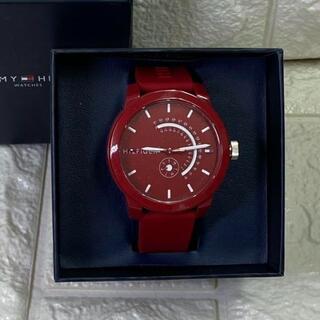 トミーヒルフィガー(TOMMY HILFIGER)の19【新品1】トミーヒルフィガー メンズ レッド 腕時計(腕時計(アナログ))