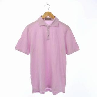 クルチアーニ(Cruciani)のクルチアーニ cruciani ポロシャツ 半袖 コットン 52 ピンク(ポロシャツ)