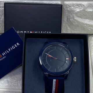 トミーヒルフィガー(TOMMY HILFIGER)の24【新品・未使用】トミーヒルフィガー メンズ ネイビー 腕時計(腕時計(アナログ))