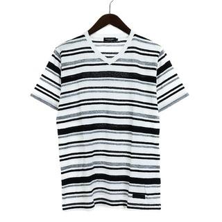 ブラックレーベルクレストブリッジ(BLACK LABEL CRESTBRIDGE)のブラックレーベルクレストブリッジ Tシャツ カットソー 半袖 M 黒 白(Tシャツ/カットソー(半袖/袖なし))