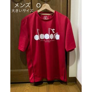 ディアドラ(DIADORA)のディアドラ メンズロゴトップシャツ 赤 O(ウェア)