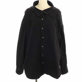 バレンシアガ(Balenciaga)のバレンシアガ 17SS ピンチドカラー デニムシャツ 長袖 34 S 黒(シャツ/ブラウス(長袖/七分))