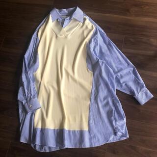 マルタンマルジェラ(Maison Martin Margiela)のmaison margiela シャツ ニット コンビ ワンピース ドレス (ロングワンピース/マキシワンピース)