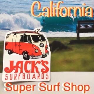 パタゴニア(patagonia)のJACKSジャックス@California限定surfbanロゴステッカーラス1(サーフィン)