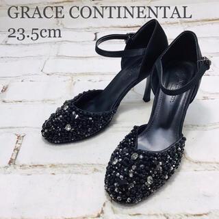 グレースコンチネンタル(GRACE CONTINENTAL)のGRACE CONTINENTAL ハイヒール ブラック 23.5cm(ハイヒール/パンプス)