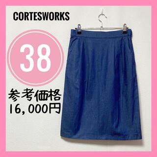 コルテスワークス(CORTES WORKS)のCORTESWORKSコルテスワークス✨スカートタイトスカートデニム生地38M(ひざ丈スカート)