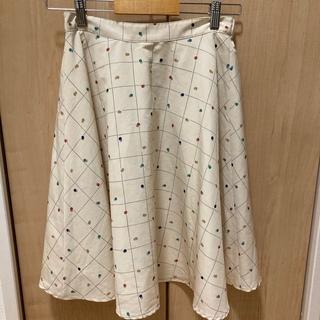 サマンサモスモス(SM2)のサマンサモスモス スカート 水玉 白(ひざ丈スカート)