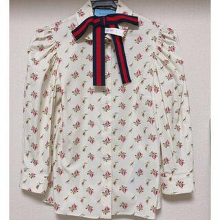 グッチ(Gucci)のGUCCI♡リボン付きシャツ(シャツ/ブラウス(長袖/七分))