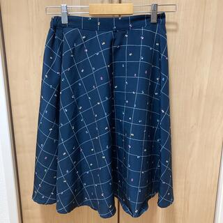 サマンサモスモス(SM2)のサマンサモスモス スカート 水玉 ネイビー(ひざ丈スカート)