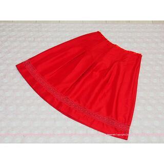 ローリーズファーム(LOWRYS FARM)の可憐なレースが可愛いふんわりスカート 64 イマージュ/IMAGE(ひざ丈スカート)