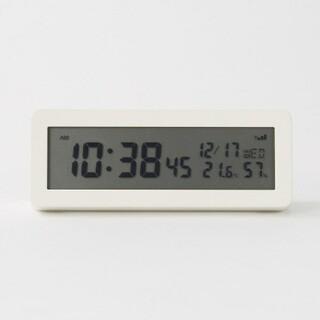ムジルシリョウヒン(MUJI (無印良品))の■新品■  無印良品 デジタル電波時計(大音量アラーム機能つき)/ホワイト(置時計)