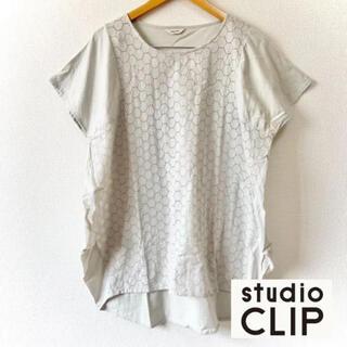 スタディオクリップ(STUDIO CLIP)のstudioCLIP 半袖 刺繍 プルオーバー シャツ チュニック(カットソー(半袖/袖なし))