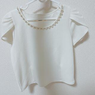 ダズリン(dazzlin)のパール付きトップス(Tシャツ(半袖/袖なし))
