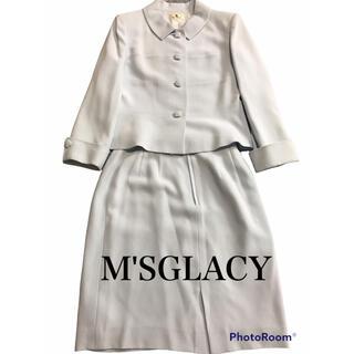 エムズグレイシー(M'S GRACY)の極美品 エムズグレイシー セットアップ スーツ ライトブルー(セット/コーデ)