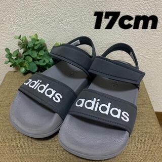 adidas - adidas キッズサンダル 17cm  グレー