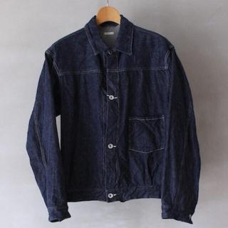 コモリ(COMOLI)のCOMOLI コモリ デニム ジャケット ネイビー サイズ1(Gジャン/デニムジャケット)