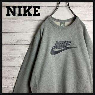 NIKE - 【オススメ‼︎】NIKE♧スウォッシュロゴ刺繍 グレー スウェット N528