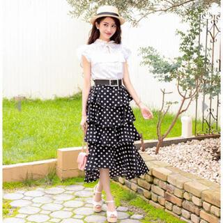 エミリアウィズ(EmiriaWiz)の美品⭐︎Emiriawiz ティアードフリルドットスカート♡(ロングスカート)