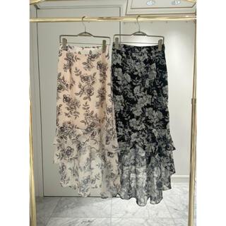 エミリアウィズ(EmiriaWiz)のエミリアウィズ クラシックフラワー スカート 黒/ブラック M(ロングスカート)