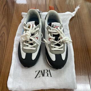 ザラキッズ(ZARA KIDS)の【新品未使用】ZARAキッズ ディズニースニーカー 18.5センチ(スニーカー)