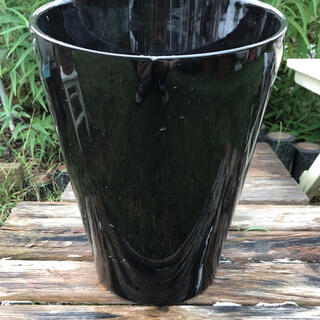 902-5  送料込み 【深鉢】植木鉢 黒鉢 陶器鉢 信楽(プランター)