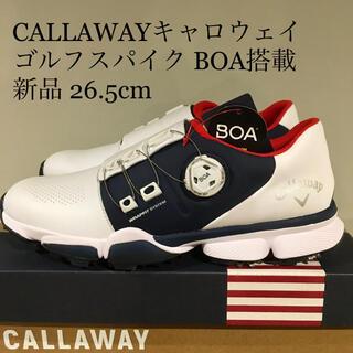 キャロウェイ(Callaway)の⛳️【新品】キャロウェイ CALLAWAY ゴルフシューズ BOA 26.5cm(シューズ)