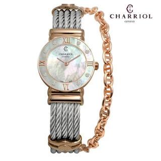 シャリオール(CHARRIOL)の新品☆CHARRIOL   シャリオール   サントロペ 8Pダイアモンド時計(腕時計)