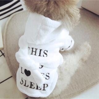 新品 英字ロゴ刺繍 ペット用バスローブ 犬用 バスローブ ガウン(犬)