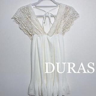 DURAS - DURAS アイボリー レース チュニック ワンピース