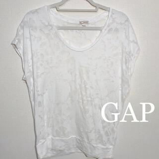 ギャップ(GAP)のGAP 花柄 シースルー ホワイト トップス Tシャツ 半袖(Tシャツ(半袖/袖なし))