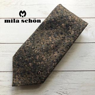ミラショーン(mila schon)の【美品】milaschon/ミラショーン カモフラ 馬 総柄 ネクタイ(ネクタイ)