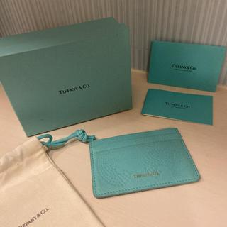 Tiffany & Co. - ティファニー  レザーカードケース 名刺入れ カードホルダー Tiffany